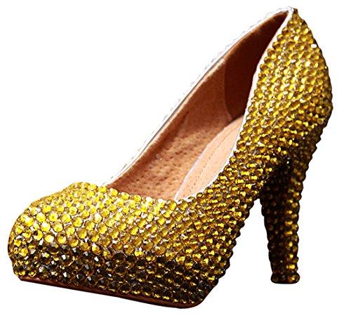 Heel Miyoopark femme 12cm Semelle Gold compensée w87X8nx