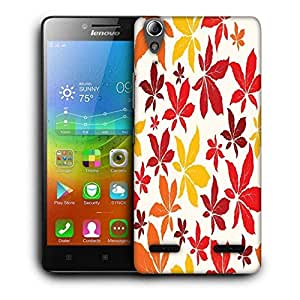Snoogg Colorful Leaves Printed Protective Phone Back Case Cover For Lenovo A6000