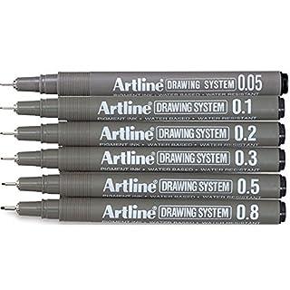 6 Artline Fineliner Pen Set Fineliner Pen Wasserdicht Zeichnen Fineliner pigment liner