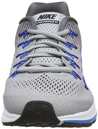 Nike Herren Air Zoom Pegasus 33 Laufschuhe Grau (Wolf Grey/BLACK-DARK GREY)