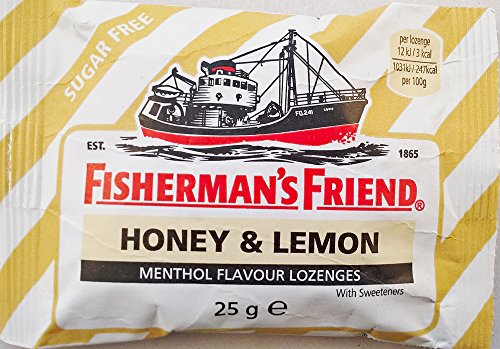 Fishermans Friend Pastillen (Fishermans Friend Honig & Zitrone Menthol Flavour ZUCKER Pastillen - 12 x 25g)