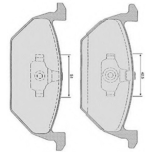 PE06531RB-9734 Kit pastiglie freno Anteriore Permafuse
