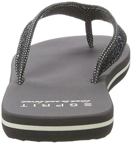 ESPRIT Damen Glitter Thongs Clogs Grau (015 Gunmetal)