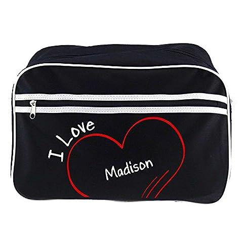 Retrotasche Modern I Love Madison schwarz (Madison Kaffee)