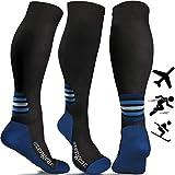 aZengear Compression Socks for Women & Men (20-30 mmHg) Best Socks for Flight Travel - Pro Sports - Running - Athletics - DVT - Nurses - Shin Splints - Pregnancy - Skiing - Blood Circulation (Pair)