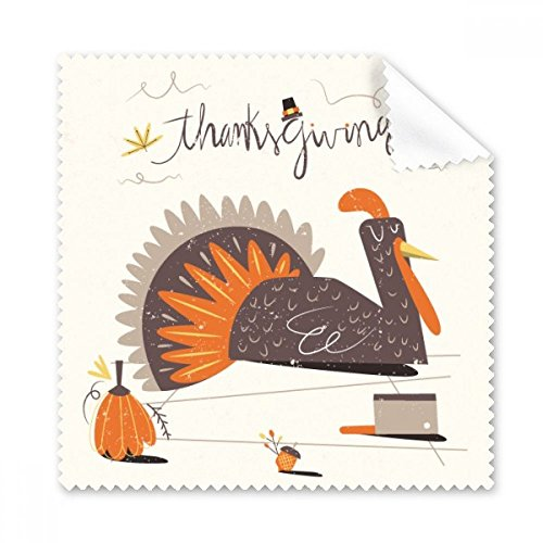 Thanksgiving Day Abstraktes Türkei Muster Brille Reinigungstuch Reinigungstuch Geschenk Handy-Display von 5x