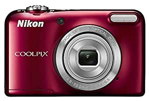 Nikon Coolpix L29 16.1 MP Point and Shoot Digital Camera (Red) with 5x Optical Zoom, Memory Card and Camera Case