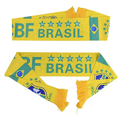 QTKJ Brasilien Weltmeisterschaft 2018Fans Schal National Team Schal Flagge Banner Fußball Jemals ()
