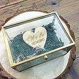 loveyourlife We Do Glas Box Rustikal Hochzeit Ring Box, Persönlichen Ring der Box, Glas Ring Kissen, Ring Holder, Hochzeit Ring Box, Vorschlag Ring Box