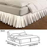 Eventualx Bed Skirt Dust Ruffle Mattress Cover Elastic Bed Skirt With Embroidery Patterns, 1.5 M / 1.8 M / 2 M Single Bed Skirt, For Beds, Bedrooms