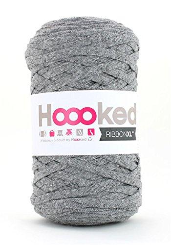 Hoooked Zpagetti Ribbon XL Bändchengarn alle Farben zur Wahl (grau) -
