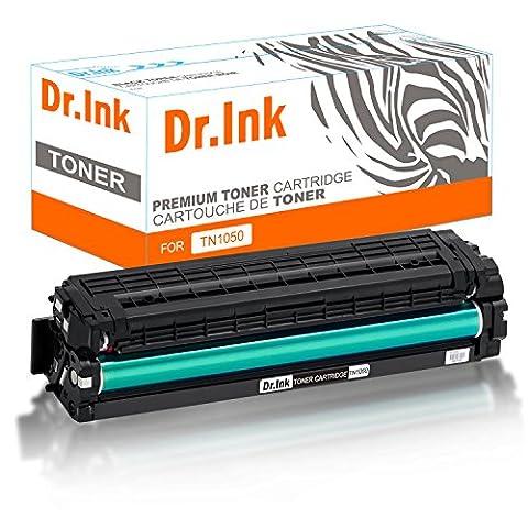 Dr.Ink Toner kompatibel zu Brother TN1050 TN-1050 für Brother DCP-1512, MFC-1810, HL-1112, DCP-1510, HL-1110 R, MFC-1815 - Schwarz 1.500 Seiten