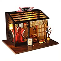 DIY Doll House Miniature Kits | DIY Cottage Handmade Architectural Model Villa | World Retro Shop Series | Innovative Girls Toys Playset for Kids and Adults