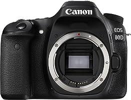 Canon EOS 80D Digitale Spiegelreflexkamera (24.2 Megapixel APS-C CMOS Sensor, 45 AF-Kreuzsensoren, DIGIC 6 Bildprozessor, NFC und WLAN, Full HD, 7,7 cm (3 Zoll) Display) nur Gehäuse schwarz