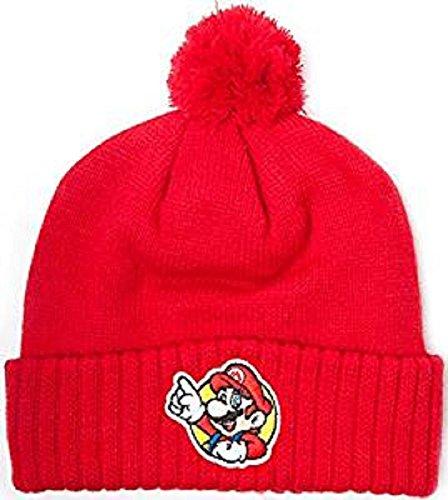 Preisvergleich Produktbild Nintendo Beanie Super Mario Strickmütze Rot Mütze Cap