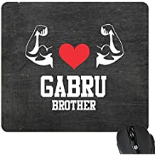 YaYa Cafe™ Birthday Bhaidooj Gift for Brother Mousepad Gabru Brother