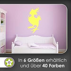 Kücken Huhn Vogel Wandtattoo in 6 Größen - Wandaufkleber Wall Sticker