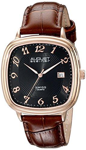51sMhbB3SQL - August Steiner Mens AS8155RGBR watch