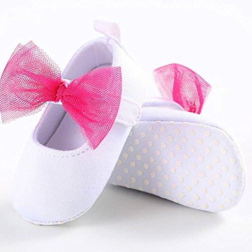Hunpta Baby Kleinkind Kinder Mädchen weichen Sohle Krippe Kleinkind Neugeborenes Schuhe (Alter: 6 ~ 12 Monate, Weiß) Weiß