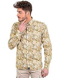 1cde0159c2 DIVARO - Camisa Estampado Cachemir Manga Larga - Disponible EN Color Camel  Y EN Turquesa -