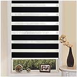 SHINY HOME® Cortinas enrollables para habitación 77*150,Negro