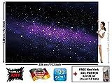 GREAT ART Fototapete - Weltall Sterne - Wandbild Dekoration Kinderzimmer Weltraum Stars Galaxy Sky Sternenhimmel Universum Space All Kosmos Wandtapete Fotoposter Wanddeko (336 x 238 cm)