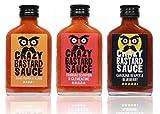 Crazy Bastard Sauce - 3er Set - Extreme Scharfe Chilisauce mit der Schärfste...