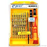 #9: Shree-Hari Jackly JK-6066-B 33-in-1 Jackly 6066-B Screwdriver Tool Kit for Mobiles, PDA, Laptop And Other Small Electronics Product