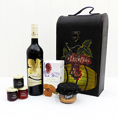 Mother's Day Delight Broadleaf Red Wine and Nibbles Gift Food Hamper