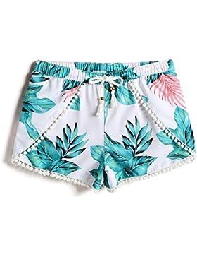 OME&QIUMEI Holiday Beach Leisure Sport Femenina Pantalones Cortos Shorts Spa Termal Seco Natación Femenina Troncos...
