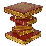 Oriental Galerie Nachttisch Beistelltisch Ablage Hocker Bücherhocker Holzhocker Akazienholzhocker 34x34 cm 40cm hoch Holz Akazienholz Rot Gold