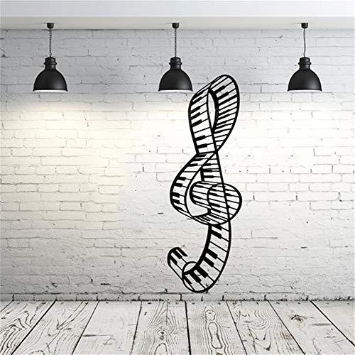 Adesivi bianchi murali nota musicale chiave di violino piano soggiorno camera dei bambini sala della musica