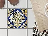 Bodenfliesen-Dekor   Klebe-Sticker Aufkleber Folie Küchenfliesen Bad-Folie Badgestaltung   20x20 cm Muster Ornament Golden Twenties - 1 Stück