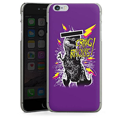 Apple iPhone X Silikon Hülle Case Schutzhülle T-Rex 90er Dinosaurier Hard Case anthrazit-klar