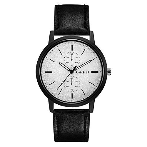 rainbabe Herren Exquisite Maßstab PC five-pin weiß Armbanduhr Fake zwei Augen printeds 24cm mit 3,6cm Fall
