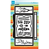 Marianne Design craftables Plantillas de Corte y Embossing,Tarjeta de Caja, para proyectos de Manualidades de Papel, Metal, Gris, 31.1x18x0.2 cm