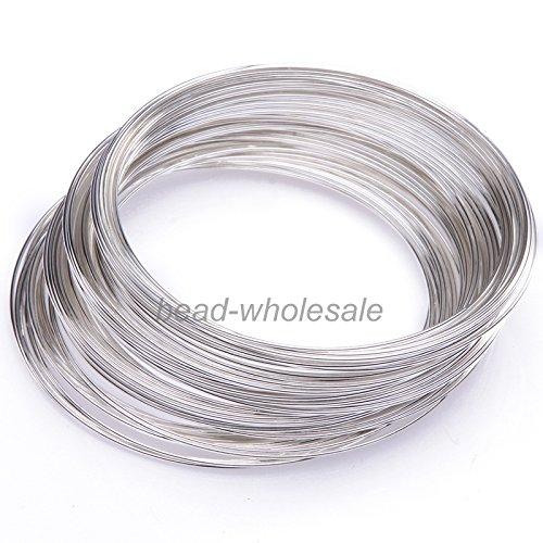 ILOVEDIY 100 Windungen Speicher Draht Memory Wire Spiraldraht Schmuckdraht für Armband Basteln (Silber, - Form-memory-draht