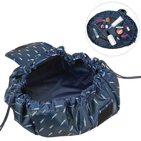 Fumxin Lazy Make-up-Tasche, tragbar, große Reisetasche/Kulturbeutel?Lazy Quick Drawstring Make up Tasche?Storage Organizer für Frauen Mädchen Blau blau 7.5in/21cm*6.6in/24cm