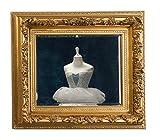 aubaho Spiegel 94x84cm Prunkspiegel Facetteschliff antik Stil Gold Farben Holzrahmen