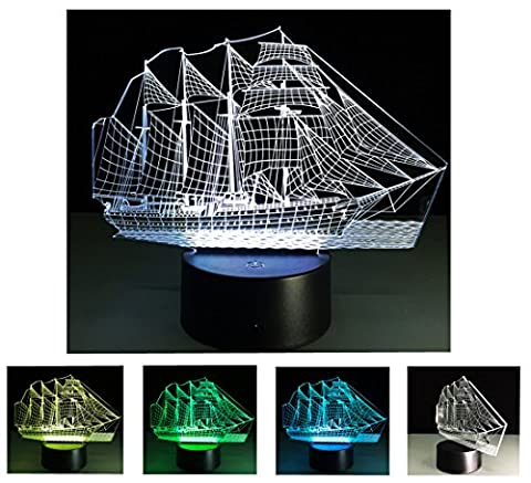 3D Nightlights, 7 Colors Change Touch Control Night Lamp, Best