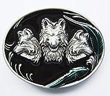Napolo Cinturon de hebilla western vintage buckle hombre tres lobos paquete