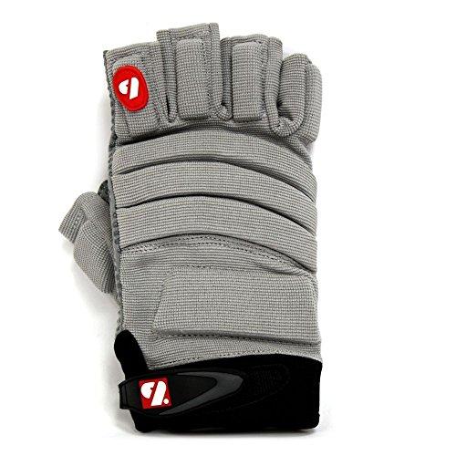 Barnett FLGC-02 American Football Handschuhe Linemen Passform, Kurze Finger, OL,DL, GRAU