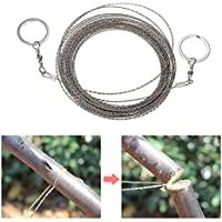 AoToZan 10m / 32.8ft Outdoor Survival Wire Saw Hand Stainless Saw Outdoor Survival Tool Kit Survival Gear Portable Rescue Saw Camping Tool Pocket Gear