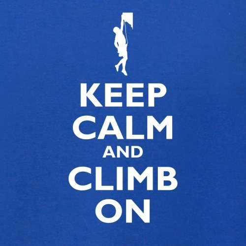 Keep Calm and Climb On - Herren T-Shirt - 13 Farben Royalblau