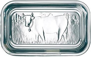Luminarc Butterdose, Kuh-Design, Träger und Deckel aus Glas.