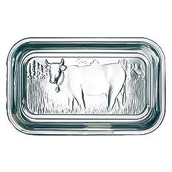 Arcoroc Helper Butterdose Kuh 17cm mit Deckel, 1 Stück