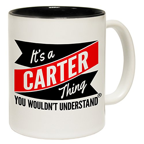 123t Mugs New It's A Carter Thing You Wouldn't Understand Ceramic Slogan Cup With Black Interior by 123t Mugs Carters Cupcake
