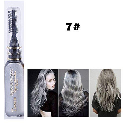 DIY Langlebige Temporäre Schimmer Haar Farben Creme mit Kämme Haare Färben Kreide Haartönungen Grau