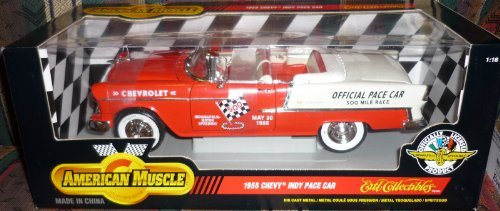 #7124 Ertl American Muscle 1955 Chevy Indy Pace Car 1/18 Scale Diecast by ERTL (Diecast Indy Car)