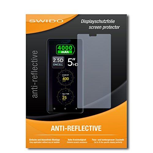SWIDO Schutzfolie für Allview P8 Energy Mini [2 Stück] Anti-Reflex MATT Entspiegelnd, Hoher Härtegrad, Schutz vor Kratzer/Bildschirmschutz, Bildschirmschutzfolie, Panzerglas-Folie